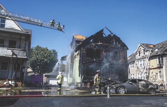 7 Houses Damaged, 4 People Hurt in Springfield Blaze