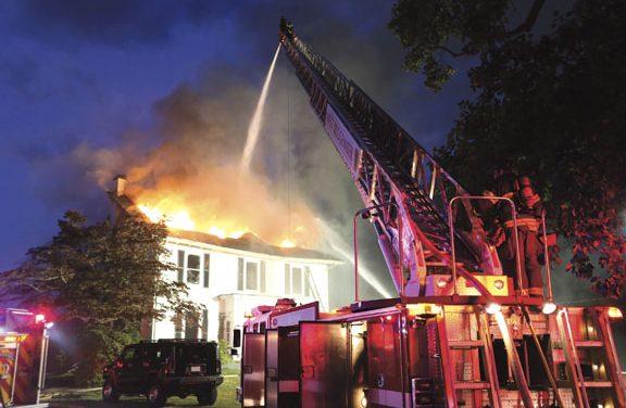 Fire Destroys Farm House in West Bridgewater