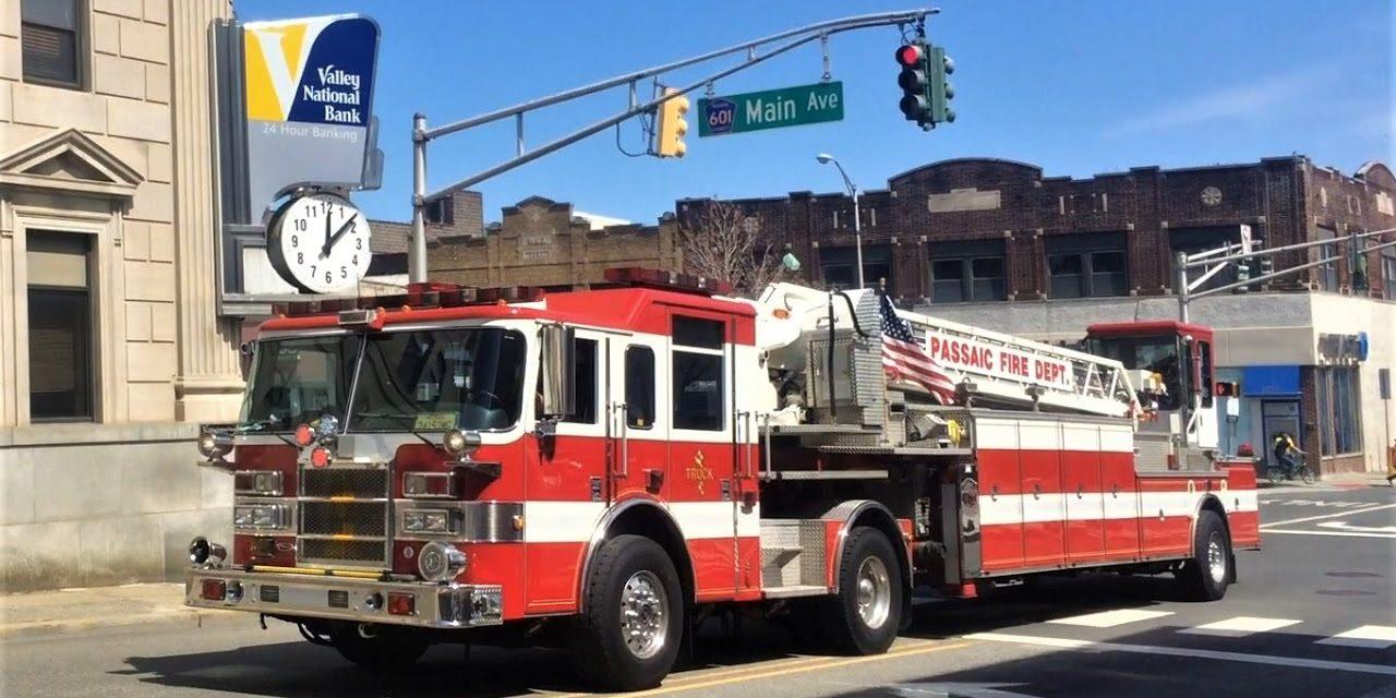 PASSAIC FIRE DEPARTMENT (NJ) FIRST FEMALE TILLER DRIVER