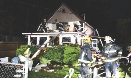 Woman Rescued at Hicksville Blaze