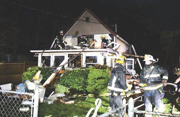 Woman Rescued at Hicksville Blaze