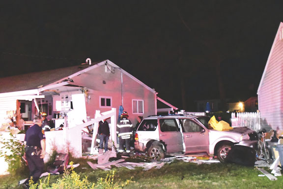 Car into House, Kids Aboard, Driver Charged with DWI