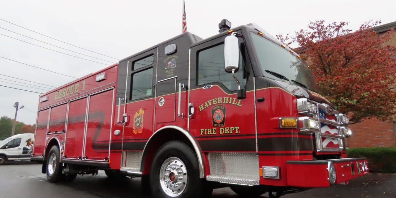 NEW PIERCE RESCUE FOR HAVERHILL FIRE DEPARTMENT (MA)