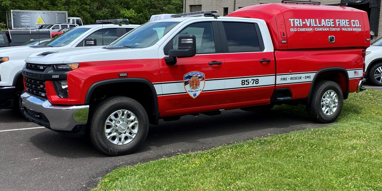 TRI-VILLAGE FIRE COMPANY (NY) TAKES DELIVERY OF NEW RESPONSE UNIT