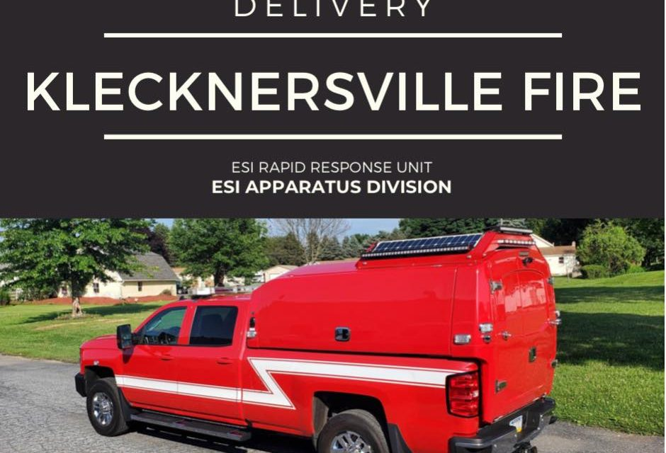 KLECKNERSVILLE FIRE (PA) TAKES DELIVERY OF NEW RAPID RESPONSE UNIT