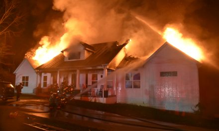 INDIANAPOLIS FIREFIGHTERS BATTLE HOUSE FIRE WITH COLLAPSE