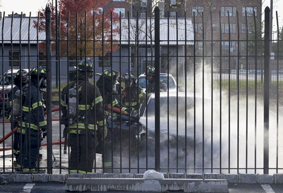 East Orange Car Fire Held