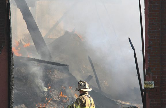 Factory Razed After Fire in Middletown