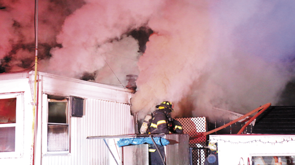 1 FF Hurt in N. Amityville Mobile Home Fire
