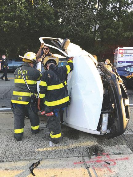5 Injured in Huntington 5-Car MVA