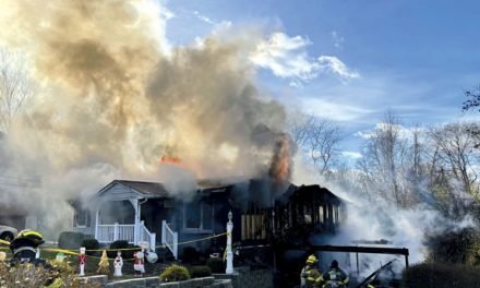 Lake Mohegan Handles Wind-Driven House Fire