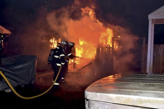 Quick Work at Scullville Fire