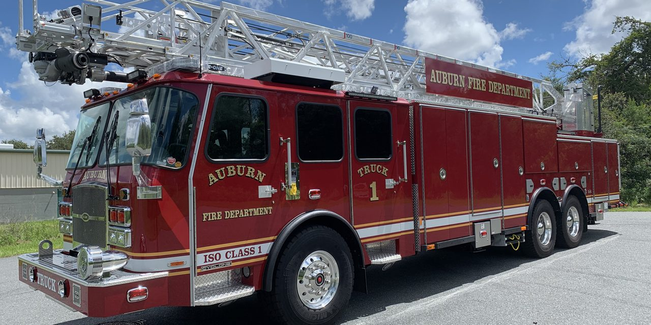 AUBURN FIRE DEPARTMENT (NY) TAKES DELIVERY OF NEW E-ONE LADDER