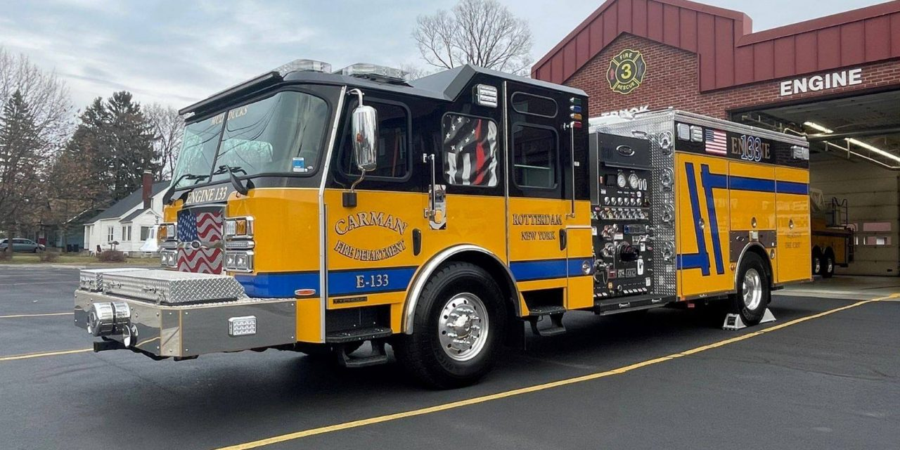 CARMAN FIRE DEPARTMENT (NY) TAKES DELIVERY OF NEW E-ONE RESCUE ENGINE