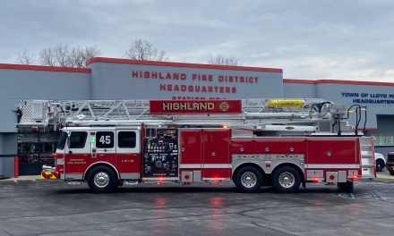 HIGHLAND FIRE DISTRICT (NY) TAKES DELIVERY OF NEW E-ONE PLATFORM LADDER