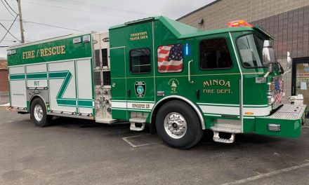 MINOA FIRE DEPARTMENT (NY) TAKES DELIVERY OF NEW E-ONE RECUE PUMPER