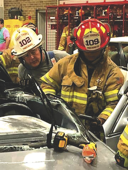 PRINCE GEORGE FIREFIGHTERS TRAIN ON VEHICLE EXTRICATION