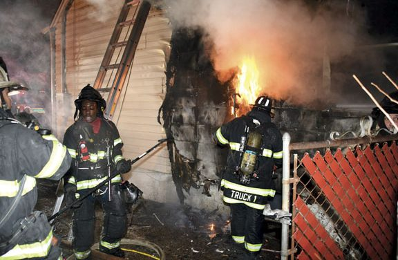 All OK in Floor Collapse at Uniondale Fire