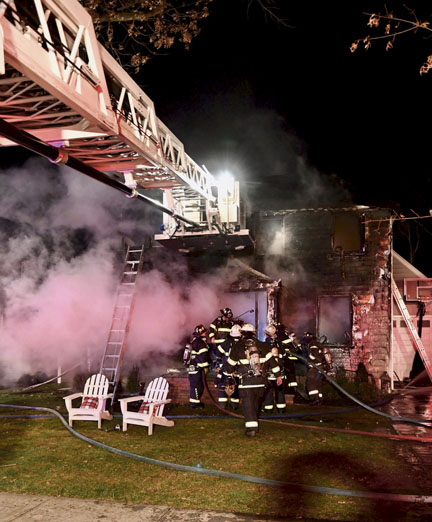 Heavy Damage at Stewart Manor Blaze