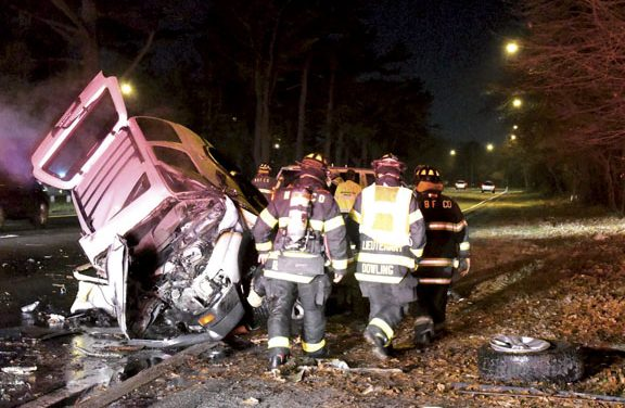 North Babylon MVA with Fire