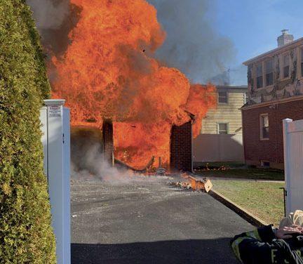 Franklin Square Handles Garage Fire