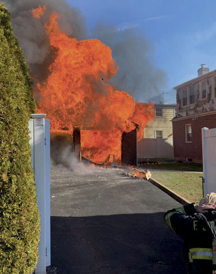 Franklin Square Handles Garage Fire