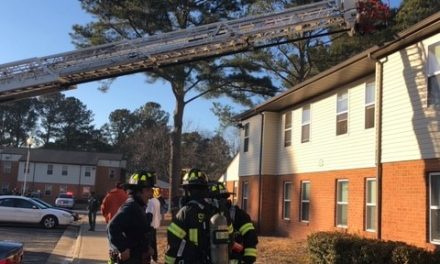 FOUR DISPLACED IN RESIDENTIAL STRUCTURE FIRE
