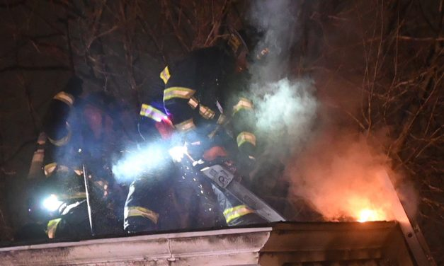 HADDONFIELD (NJ) FIREFIGHTERS BATTLE 2-ALARM BLAZE AT 190 YEAR OLD HOUSE