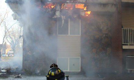 FIREFIGHTERS BATTLE APARTMENT BLAZE IN INDIANA