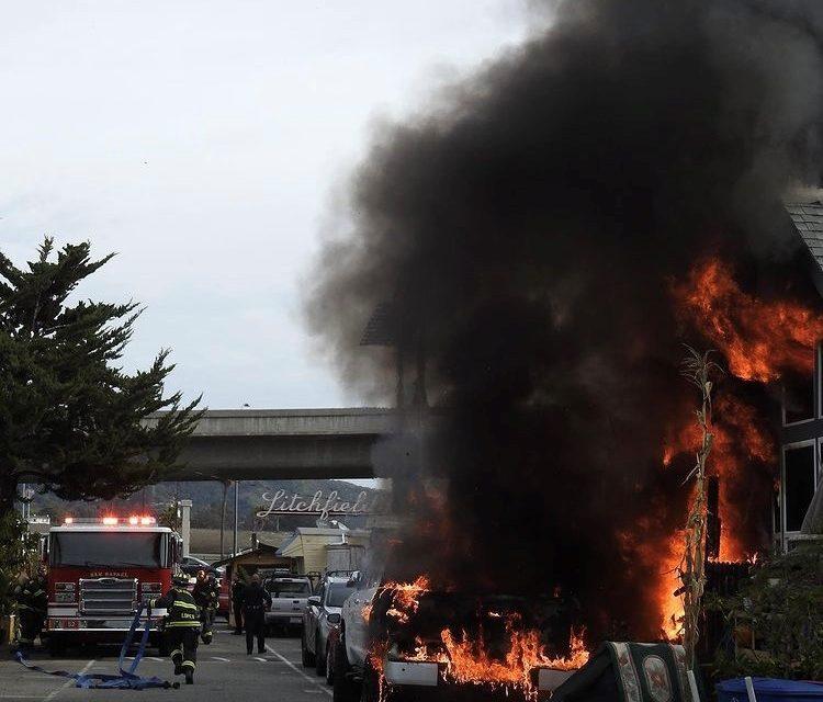 THREE HOMES DAMAGED IN SAN RAFAEL (CA) BLAZE