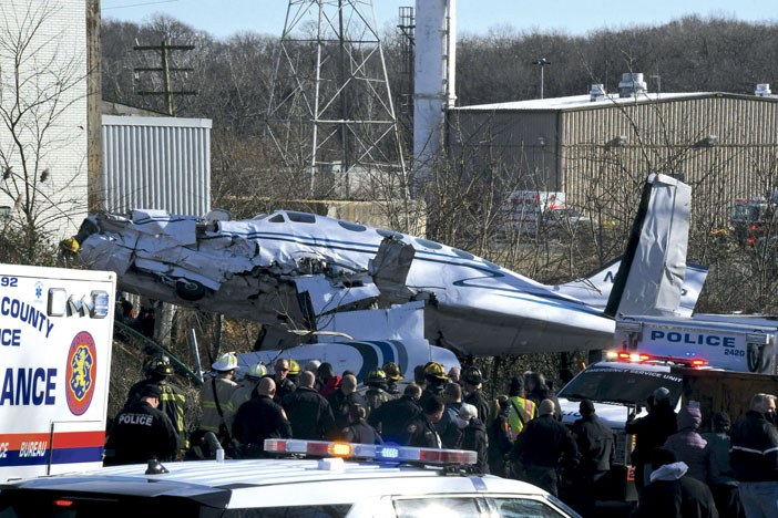Plane Crash Down in Old Bethpage