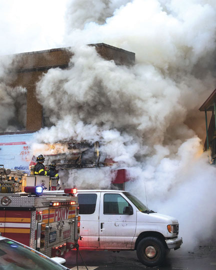 3 Alarms at Bronx Commercial Fire
