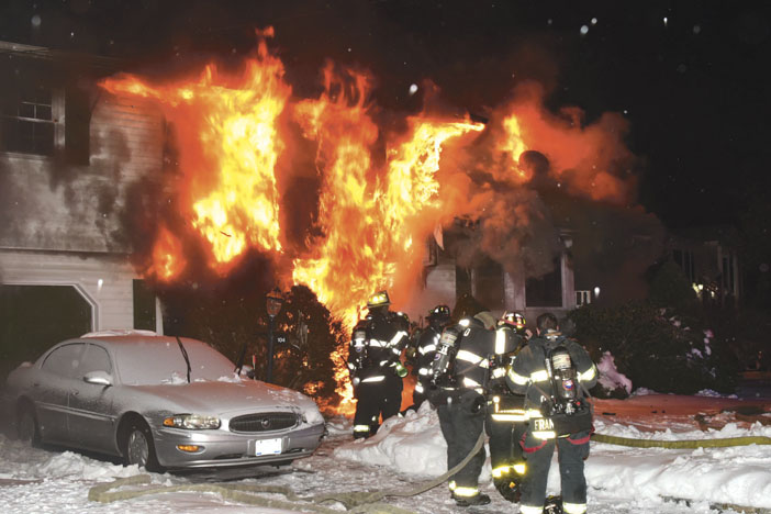 Collapse at Deer Park House Fire