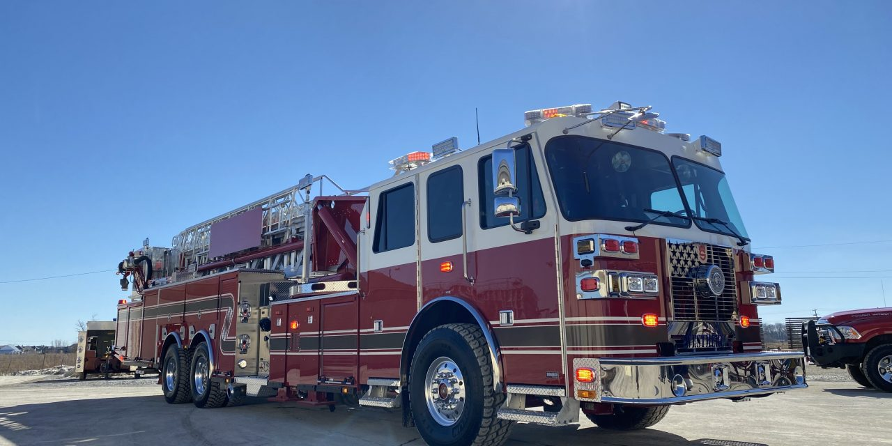 WESTMERE (NY) TAKES DELIVERY OF NEW SUTPHEN TOWER LADDER