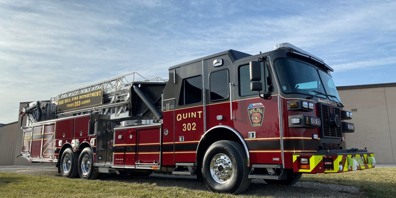 OAK HILL (TX) TAKES DELIVERY OF NEW SUTPHEN AERIAL