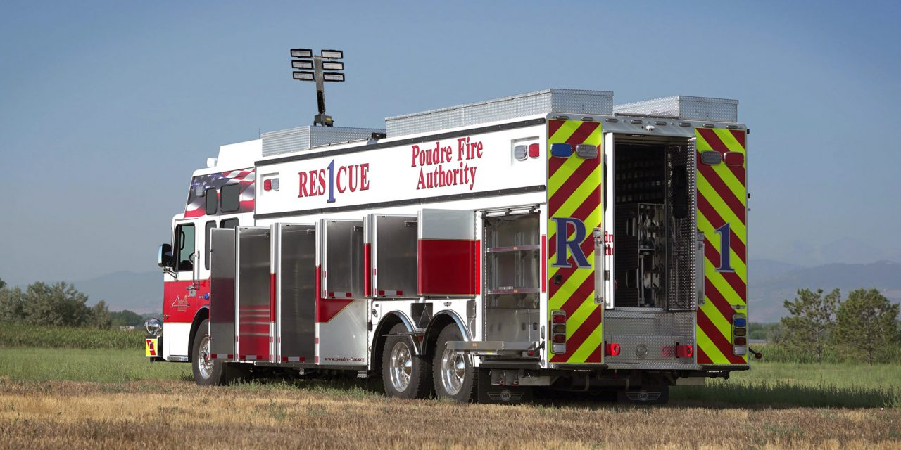 POUDRE FIRE AUTHORITY (CO) TAKES DELIVERY OF NEW WALK-IN HEAVY RESCUE
