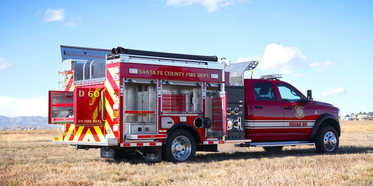 SANTE FE COUNTY (NM) TAKES DELIVERY OF NEW SVI-BUILT MINI PUMPER