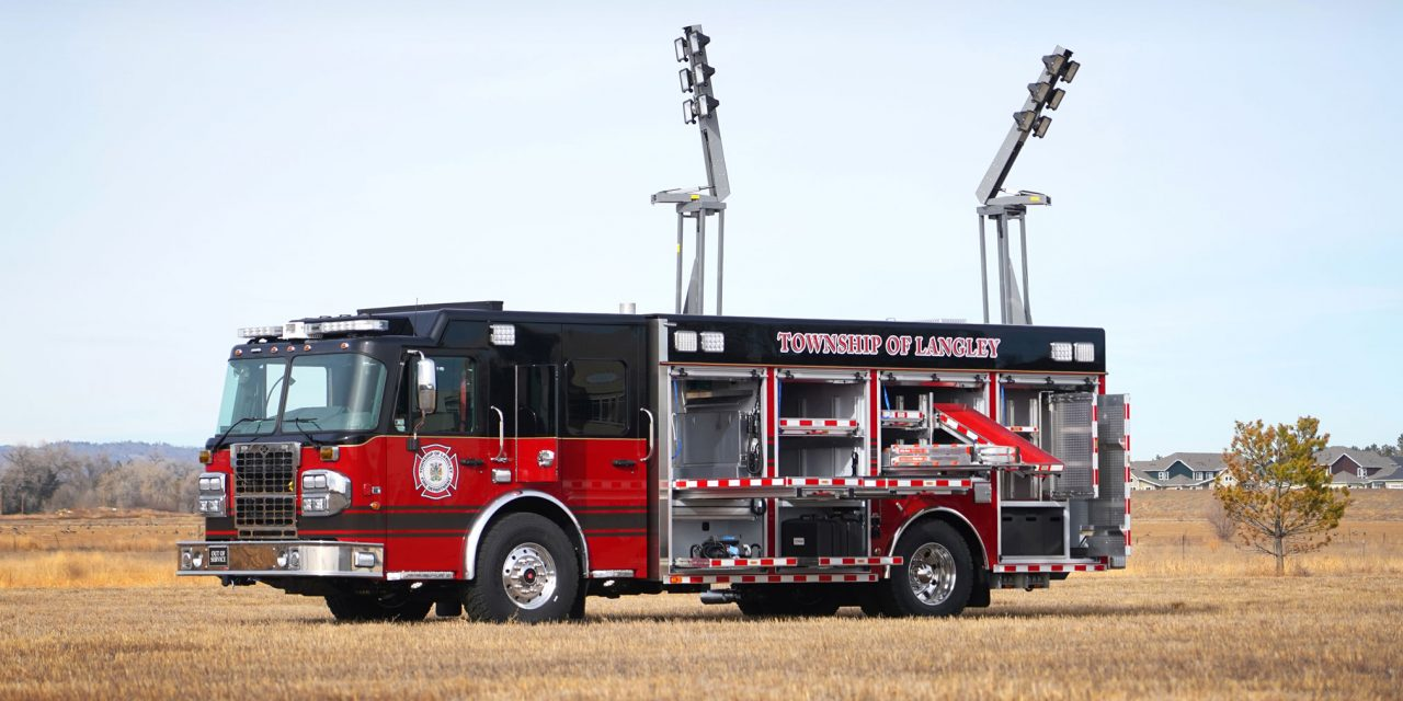 TOWNSHIP OF LANGLEY (BC) TAKES DELIVERY OF SVI-BUILT HEAVY RESCUE
