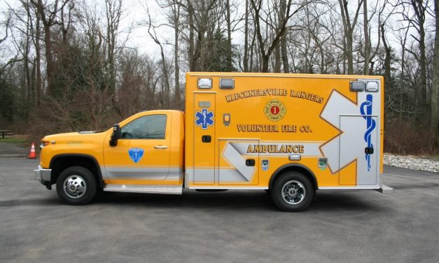 KLECKNERSVILLE RANGERS VOLUNTEER FIRE COMPANY (PA) TAKES DELIVERY OF NEW CHEVY MEDIX AMBULANCE