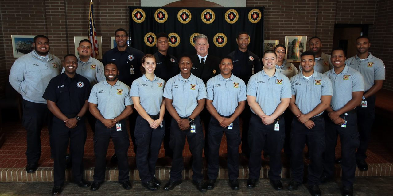COLUMBUS DIVISION OF FIRE CELEBRATES CADET CLASS COMPLETION