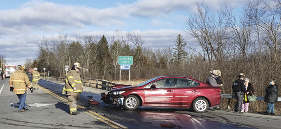 Car vs. Dump Truck in Coxsackie