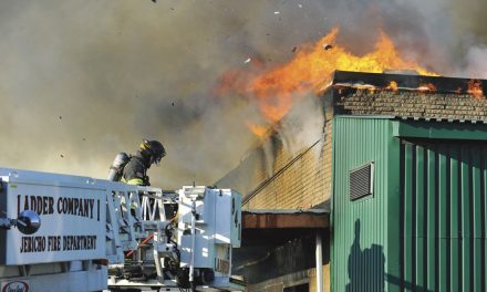 Westbury Commercial Fire Extends