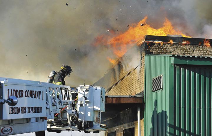Westbury Commercial Fire Extends