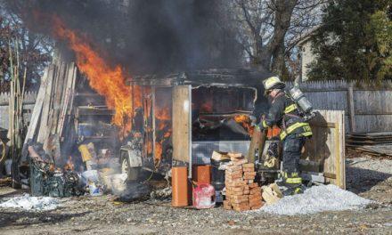 East Hampton Trailer Fire