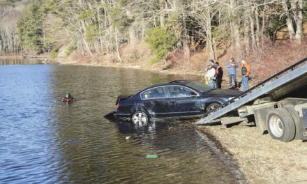 Car into Reservoir in Charlton