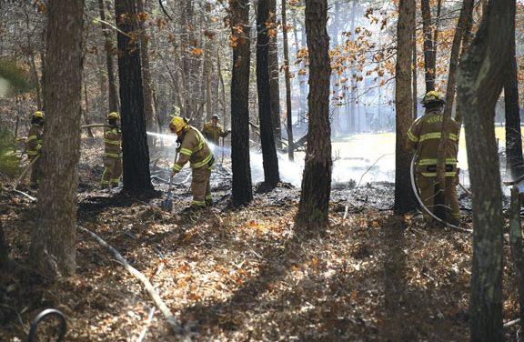 Medford Township Brush Fire