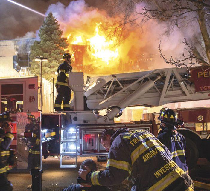 Lucky FFs at Camden 3-Alarm Building Fire