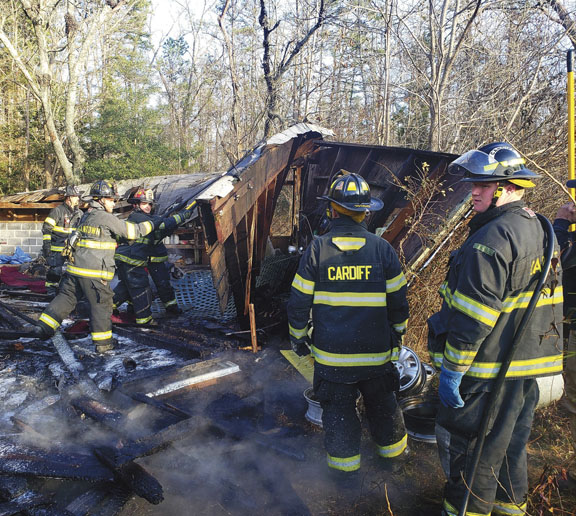 Shed, Woods Fire in Bargaintown