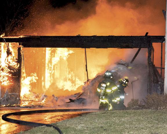 Penfield Battles Garage Fire