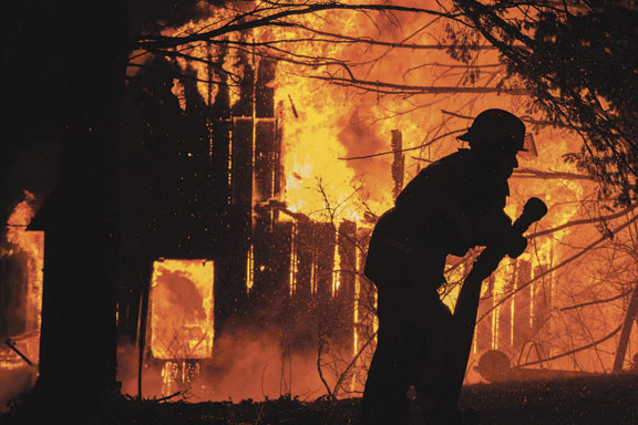 Barn Fire Levels Several Buildings